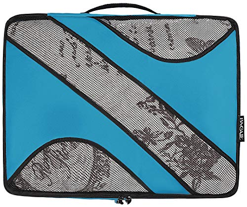 6 Set Packing Cubes,3 Various Sizes Travel Luggage Packing Organizers Blue by BAGAIL (Image #7)