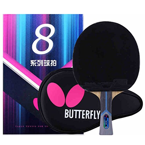 Ping Pong Paddle by Butterfly | 802 Ping Pong Paddle Set | Butterfly Ping Pong Paddle Case | Arylate Carbon Table Tennis Racket with Table Tennis Racket Case | Professional Table Tennis Racket Set (Best Butterfly Ping Pong Paddle)