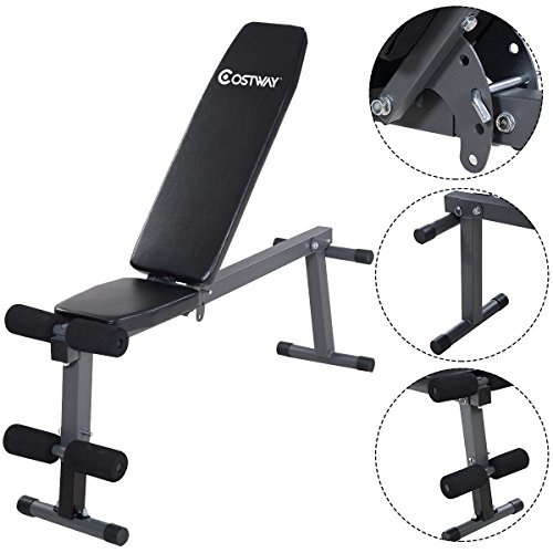 Goplus Folding Sit Up AB Bench Fly Press Gym Adjustable Incline Flat Weight Bench For Sale