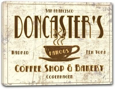 DONCASTER'S Coffee Shop & Bakery Gallery Wrapped Canvas Sign Home Wall Decor Gift 24