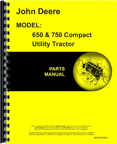 Parts Manual Illustration - John Deere 650 Tractor Parts Manual