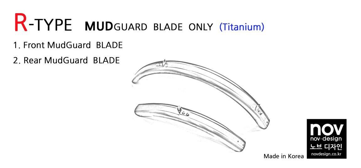 Nov R-Type Black Titanium Mudguard Set for Brompton Folding Bike - Dino Kiddo