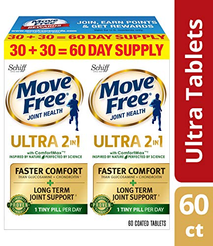 Joint Ultra Complex (Move Free Advanced Ultra 2-in-1 with Comfortmax, Clinically Proven Joint Support, 60 Count)