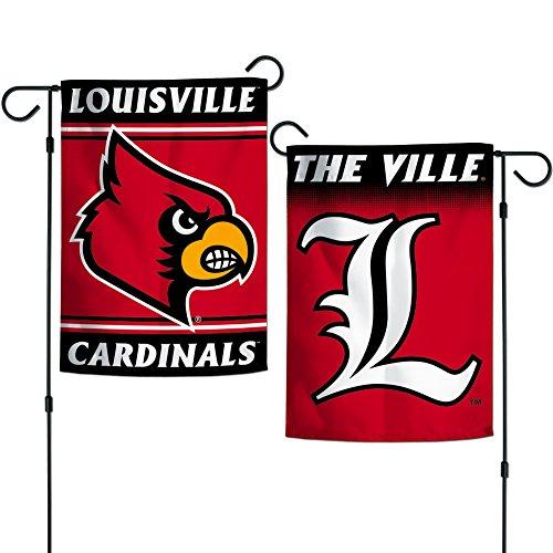 """Elite Fan Shop Louisville Cardinals Garden Flag 12.5""""x18"""" - Cardinal"""