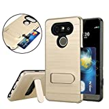 LG V20 Case, VL [Card Slot]-Protective Self Stand Case, [Perfect Desgin & Ultra Thin] [Anti-Scratch] Shockproof Slim Fit Dual Layer Protection Hybrid Cover with Kickstand for LG V20 (Gold)