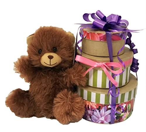 Gifts For Mom | Adorable Candy Gift Set | Tiered Gift Boxes with Premium Candy and Tea | Candy Assortment for All Occasions!