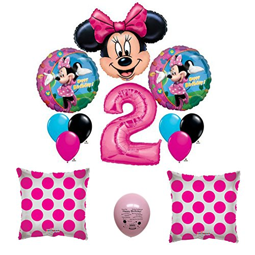 Minnie Mouse Party Supplies 2nd Birthday Balloon Set