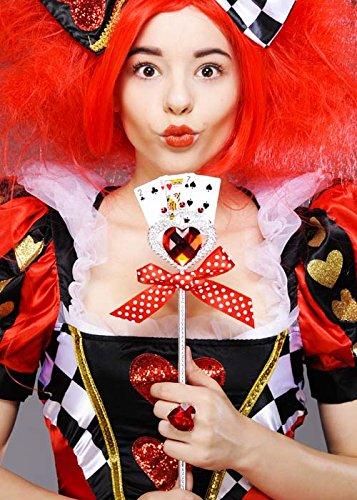 Bristol Novelty La Reine des coeurs Style baguette de carte à jouer