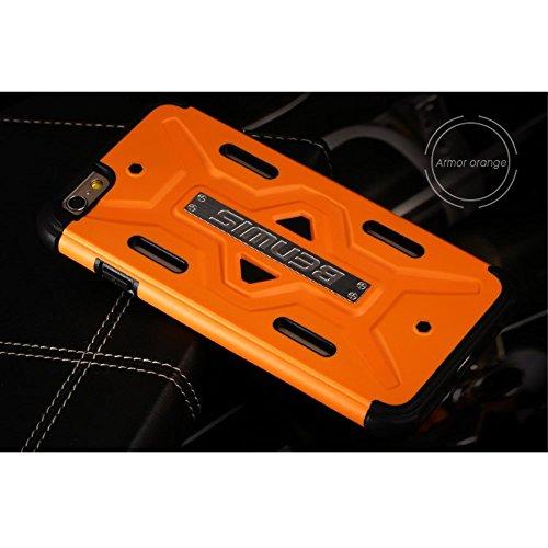 benwis Apple iPhone 6S/6Sac Étui Case Outdoor Orange decui Orange/TPU Coque en gel
