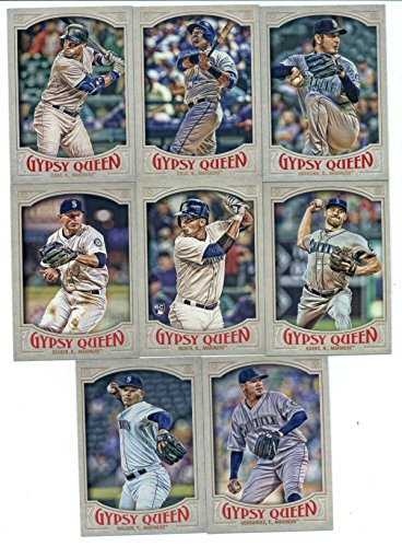 2016 Topps Gypsy Queen Seattle Mariners Team Set of 8 Cards: Robinson Cano(#18), Hisashi Iwakuma(#74), Nelson Cruz(#82), Felix Hernandez(#150), Taijuan Walker(#171), Kyle Seager(#182), Ketel Marte(#212), Nathan Karns(#240) in Protective Snap - Karn Walker