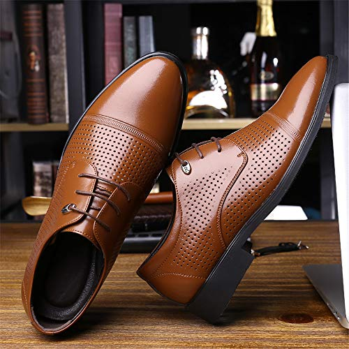 Brown Para Cordones Xhd Hombre De Zapatos Height shoes Papel XXw8O
