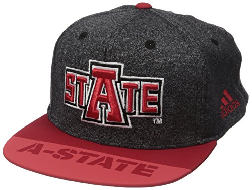 NCAA Arkansas State Indians Adult Men Player Flat Brim Snapback, One Size, Black - Black Campus Adjustable Hat