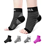 AVIDDA Ankle Brace for Men Women Pair Plantar Fasciitis Socks with Arch Support Compression Ankle Support Foot Sleeve for Achilles Tendon Support Swelling Eases Heel Pain Relief Black Medium