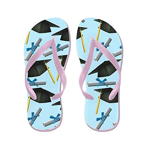CafePress Caps and diplomas - Flip Flops, Funny Thong Sandals, Beach Sandals Pink
