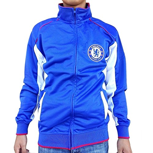 Chelsea FC Adult Blue Soccer Football Jacket Track Zip Up 2015-2016 (Large) ()