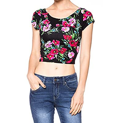 Cheap A.S MADE IN USA Juniors Cotton Stretchy Cap Sleeve Casual Ballerina Crop Top free shipping
