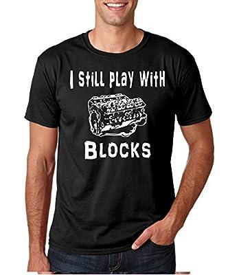 Crazy Bros Tees Still Play With Blocks - Funny Mechanic Premium Men's T-Shirt