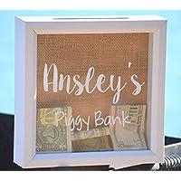 Kids Piggy Bank - Personalized Piggy Bank - Kids Money Box - Piggy Banks for Kids - Piggy Bank for Boys - Piggy Bank for Girls - Kids Birthday Gift