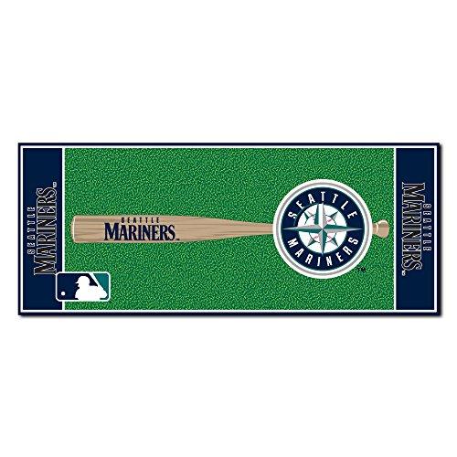 [FANMATS MLB Seattle Mariners Nylon Face Football Field Runner] (Seattle Mariners Baseball Rug)