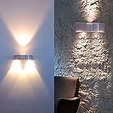 Auralum® calidad superior 3W 300LM aplique LED blanco cálido 2800-3200K