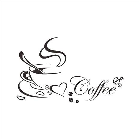 Naldesa Küche Spruch Kaffe Coffee Wandtattoo Wandsticker ...