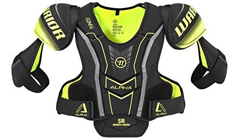 Warrior Pads Shoulder (Warrior QX4SPJR7 QX4 Jr Shoulder Pad, Black/Yellow, Medium)