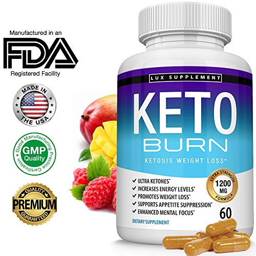Lux Supplement Keto Burn Pills Ketosis Weight Loss- 1200 Mg Ultra Advanced Natural Ketogenic Fat Burner Using Ketone Diet, Boost Energy Focus & Metabolism Appetite Suppressant, Men Women 60 Capsules (Foods To Avoid While Losing Belly Fat)