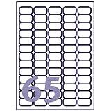 Inkjet/Laser Avery Compatible Labels 65 per sheet J8651 / L7651 - 100 Sheets