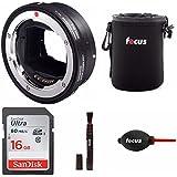 Sigma MC-11 Mount Converter Lens Adapter (Sigma EF-Mount Lenses to Sony E Cameras) W/16GB SD Card & Essential Photo Bundle