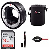 Sigma MC-11 Lens Mount Converter (E-Mount to Canon Mount Sigma) W/ 16GB SD Card & Essential Photo Bundle