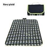 MINBB Picnic Blanket Portable Collapsible Camping Mat Picnic Pad Moisture Resistant Pad Picnic Mat Oxford Cloth
