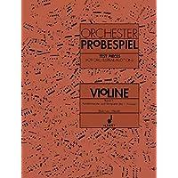 Orchester Probespiel 1 Violon