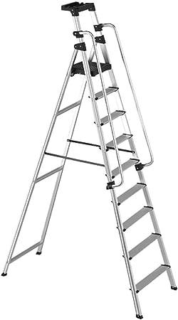 HHORD Escalera de barandilla de aleación de Aluminio, Escalera Plegable doméstica, Escalera Interior de Cuatro Cinco Seis Siete Ocho escalones,ninesteps: Amazon.es: Hogar