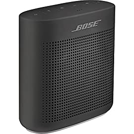 Bose SoundLink Color Bluetooth Speaker (Black) 22 Clear, full-range sound you might not expect from a compact speaker Voice prompts make pairing your devices easier than ever Up to 8 hours of music from rechargeable lithium-ion battery
