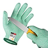 EVRIDWEAR Kid Sized Cut Resistant Work Gloves for Kitchen Use, Crafts, DIY, Garden and Yard Works. Children Food Grade Kevlar Safety Gloves for Hand Protection from Knives M (8-11YRS), Green