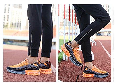 Unisex Sportive Casual Arancione Uomo Traspirante Air da Basse Interior Corsa Scarpe 44EU MIMIYAYA Leggero Donna Ginnastica e Fitness Running 34 all'Aperto Sneakers d816x5U