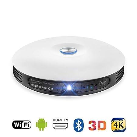 SEXTT Proyector 3D, Mini WiFi Proyector doméstico HDMI USB ...