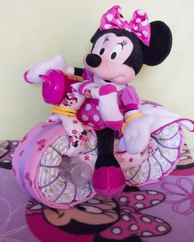 Minnie Mouse Motorcycle Diaper Cake (Minnie Mouse Motorcycle)