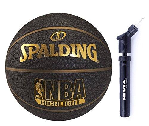 Handball Team Dimensions (Spalding Basketball Fast S combo ( Spalding Fast S Highlights Series, Size 7 ,Black/Gold + Nivia Ball Air Pump))