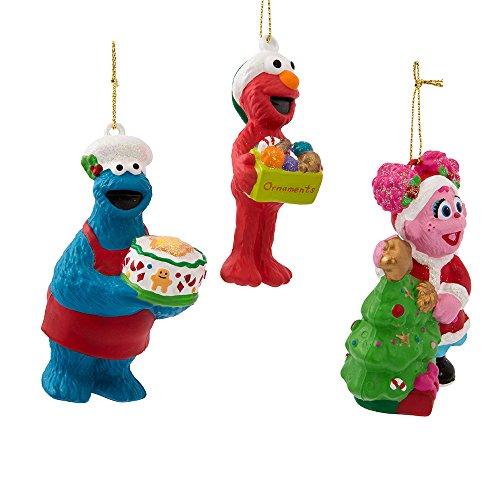 Kurt Adler Sesame Street Ornament (Set of 3), 3.125 to 3.75
