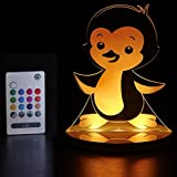 Cheap Tulio Dream Lights Waddles Penguin Multi-Use, Multi-Color Night Light