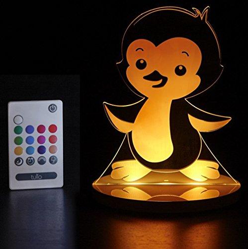 Tulio Dream Lights Waddles Penguin Multi-Use, Multi-Color Night Light