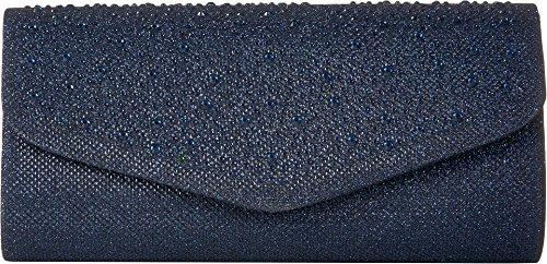 Jessica McClintock Harley Lurex Flap Womens Sparkle Evening Clutch Bag With Removable Shoulder (Evening Sparkle)