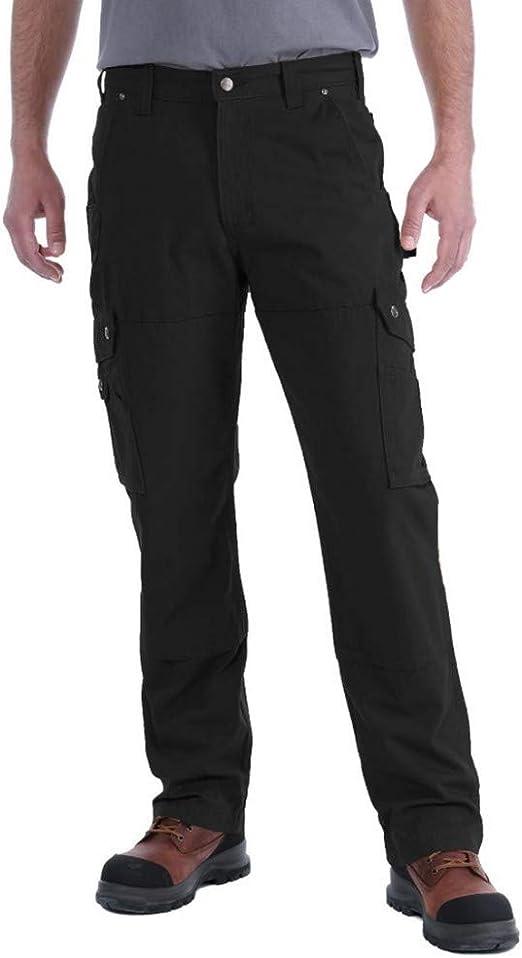 Carhartt Pantaloni da Uomo vestibilit/à Comoda in Twill con Effetto Slavato