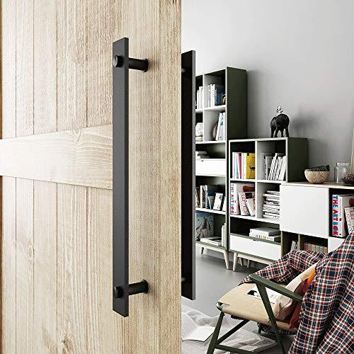 Rnwen Sliding Door Handle Sliding Barn Door Handle Pull Two-Sided Handle Hardware for Wooden Garden Door Sliding Door…