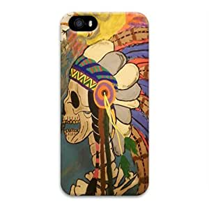 Case For Ipod Touch 5 Cover Case, NEW 2015 Indian Style Skull 3D Design For Case For Ipod Touch 5 Cover By iCustomonline