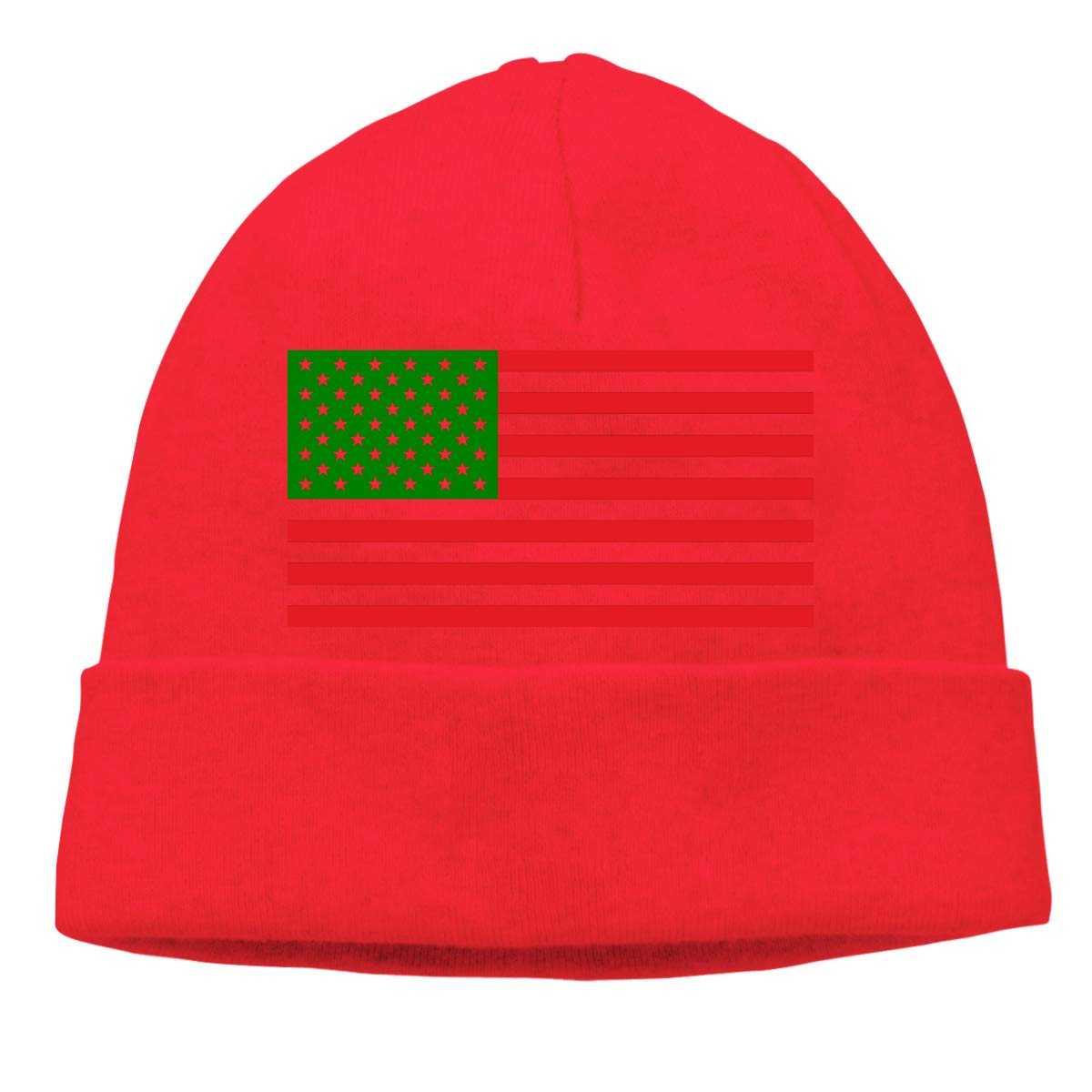 d81f9f2d87a Afro American Flag Beanie Hat Cute Toboggan Hat Winter Hats Knit Hat Beanies  for Men and Women Black at Amazon Men s Clothing store