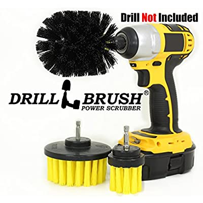 Rotary Drill Cleaning Brush for Tile, Grout, Shower, Tub, Sink-3 Piece Kit