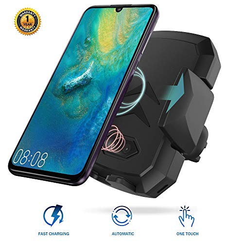 Wireless Car Charger Mount with Infrared Sensor Automatic Clamping Phone Holder Compatible with S9/S8 Note 8/9 X/Xs/Xs Max/8/11 and More Smart Phone (Black)