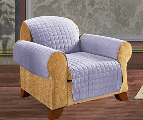 - Elegant Comfort Quilted Furniture Protector for Pet Dog Children Kids Special Treatment Microfiber as Soft as Egyptian Cotton Chair, Lilac